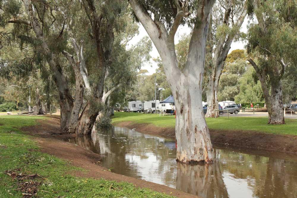 Caravan park and Crystal Brook